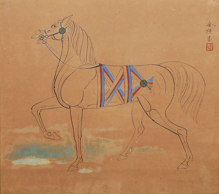 *左向きの馬