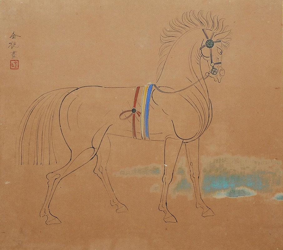 *右向きの馬