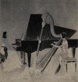 ハープとピアノ