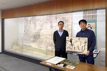 宝塚私立中央図書館の学芸員(4月に退任)七條さんと。