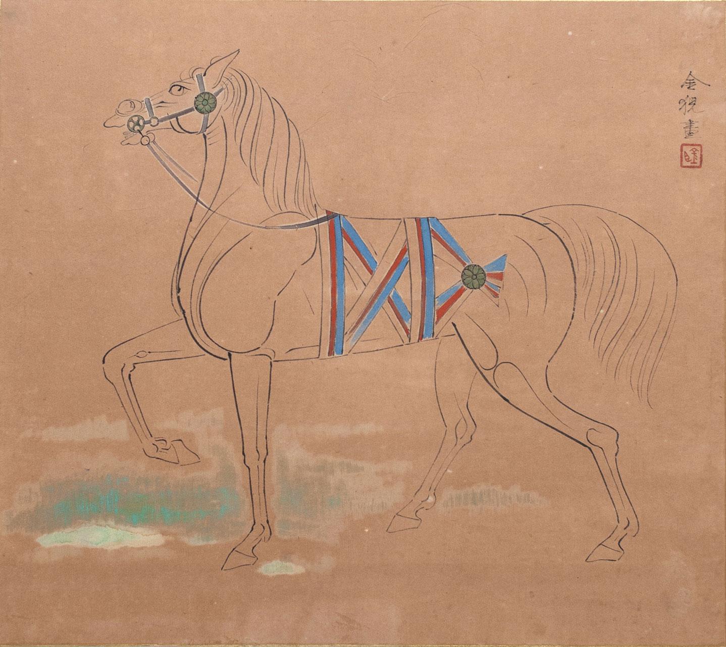左向きの馬