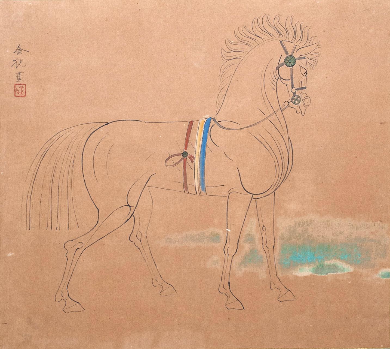 右向きの馬