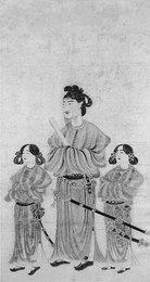 模本『聖徳太子二童子像』江戸時代