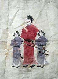 丸井金猊『聖徳太子二童子像(仮題)』1928年
