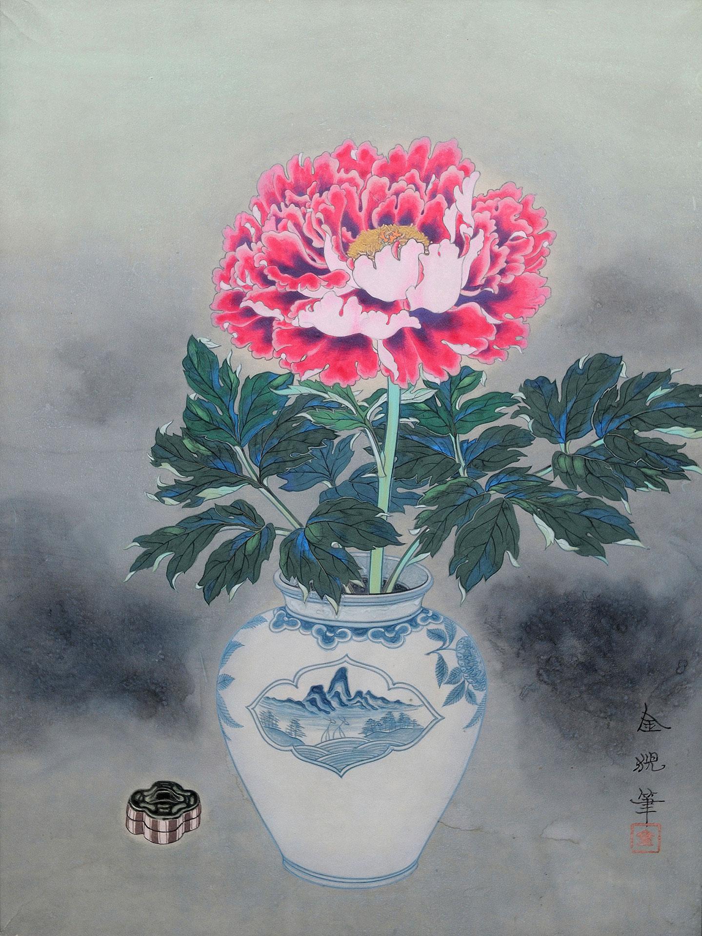 牡丹花図 - Peony