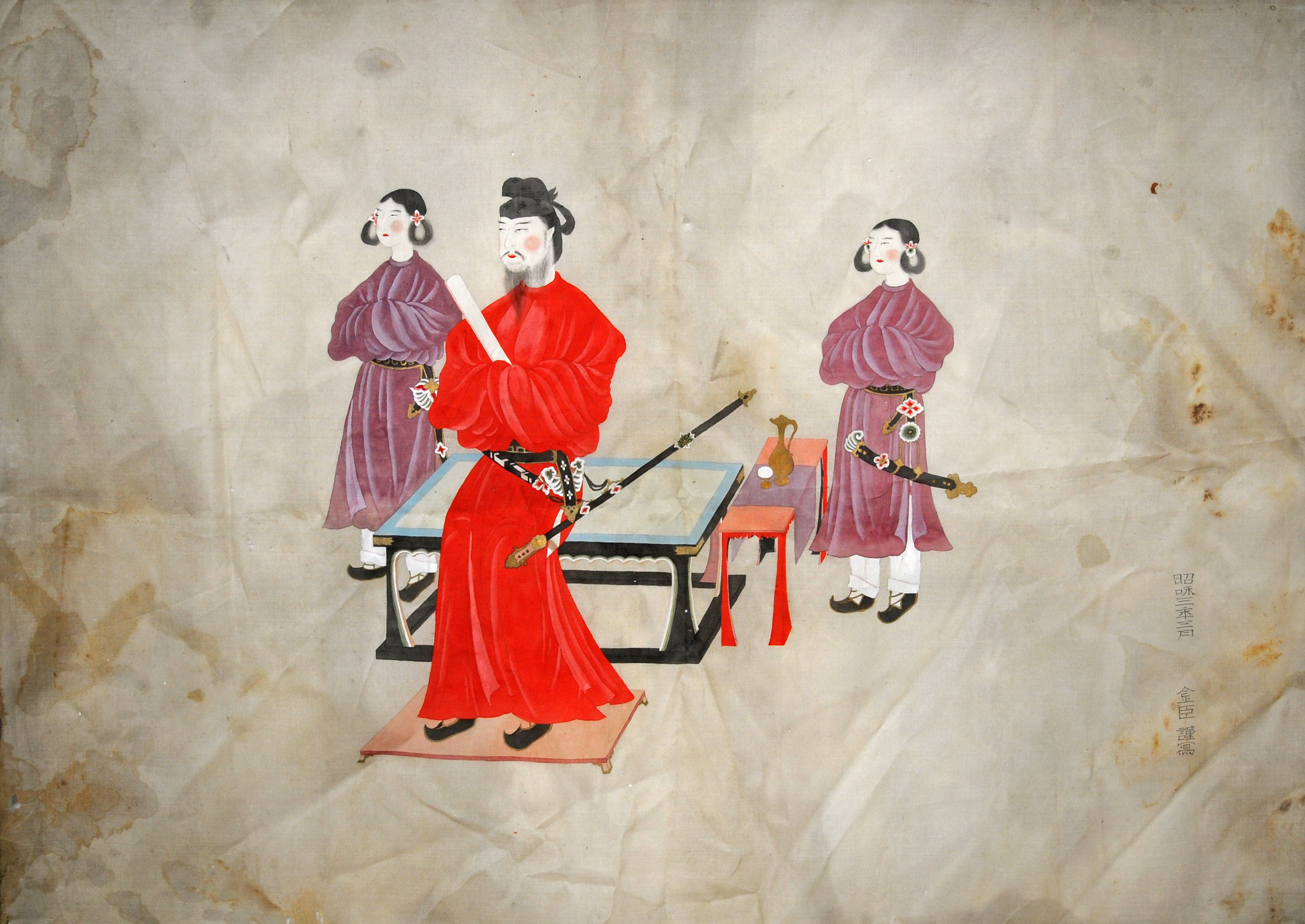 聖徳太子二童子像* - Portrait of Prince Shotoku