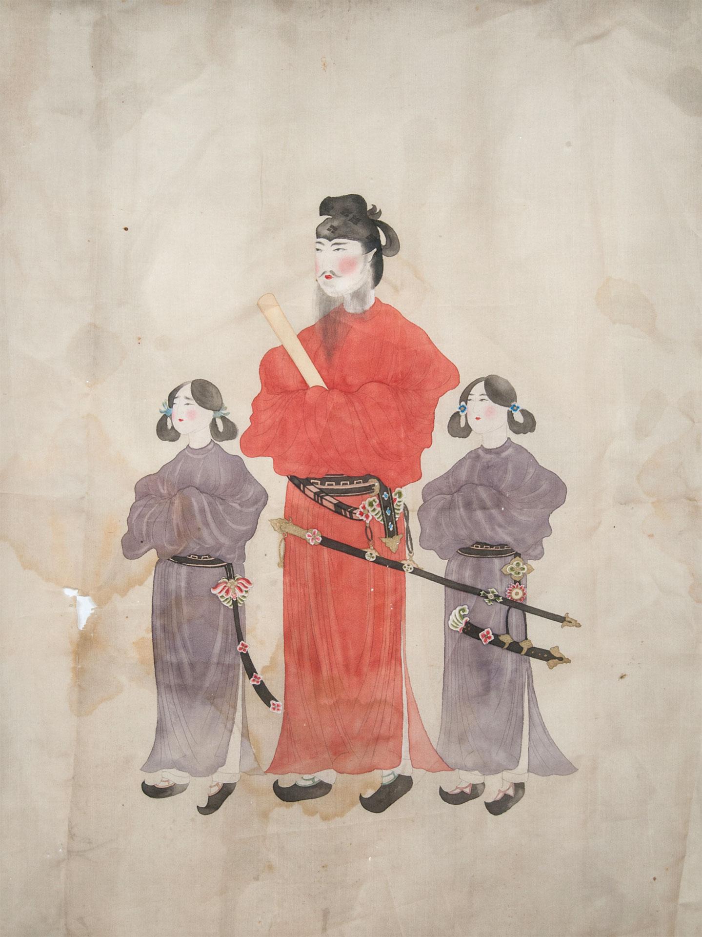 唐本御影写 聖徳太子二童子像* - Portrait of Prince Shotoku