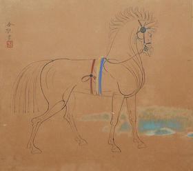 右向きの馬*