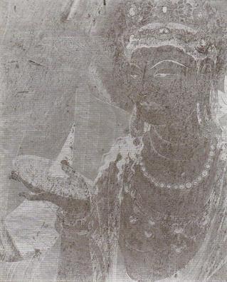 法隆寺金堂壁画 第1号壁 写真ガラス原板 第三の列の三
