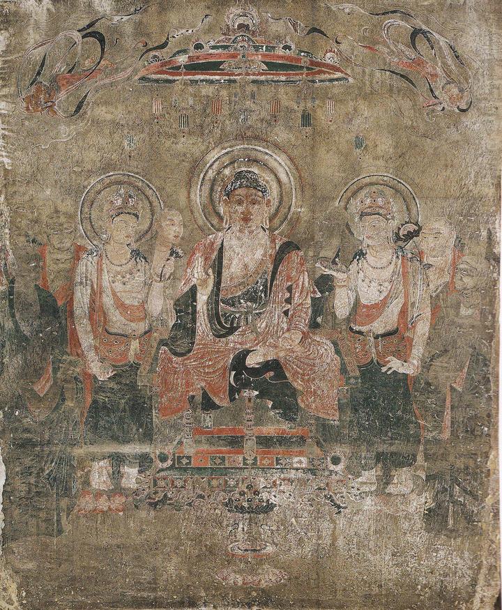 法隆寺金堂壁画再現壁画 第1号壁 釈迦浄土図(吉岡堅二)