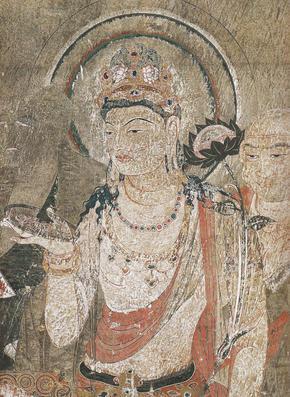 法隆寺金堂壁画 第1号壁 再現壁画模写部分図