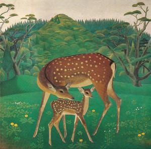 吉岡堅二《奈良の鹿》1930年