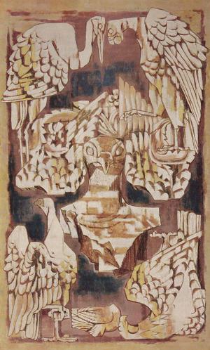 吉岡堅二《鳥碑(2)》1970年