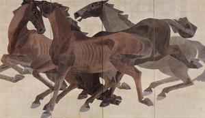 吉岡堅二《馬》1937年