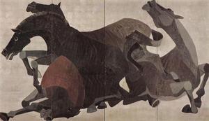 吉岡堅二《馬》1939年