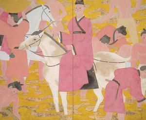 羽石光志《黄河》1954年 207.5×251.8cm