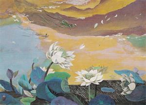 稗田一穂《薫風》1968年 65.0×91.0cm