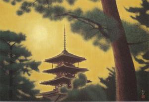 平山郁夫《法隆寺》1991年