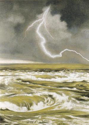 岩橋英遠《鳴門》1971年 210×149cm