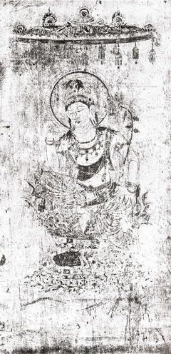 第2号壁 菩薩半跏像(コロタイプ印刷)
