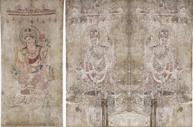 法隆寺金堂壁画 第2号壁 菩薩半跏像