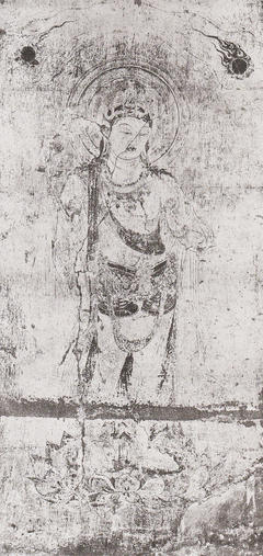 法隆寺金堂壁画 第3号壁 観音菩薩像(コロタイプ印刷)