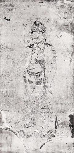 法隆寺金堂壁画 第4号壁 勢至菩薩像(コロタイプ印刷)