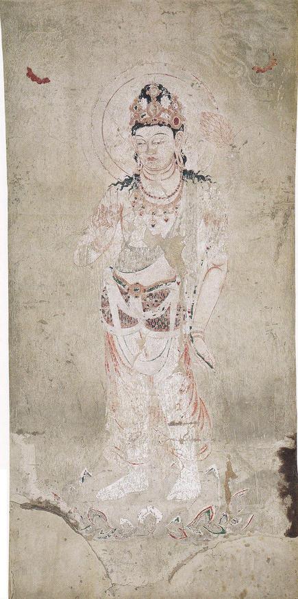 法隆寺金堂 第4号壁 勢至菩薩像(岩橋英遠)