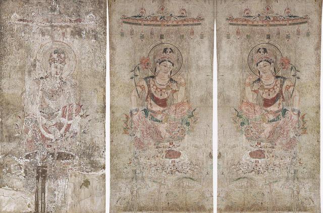 法隆寺金堂壁画 第5号壁 菩薩半跏像