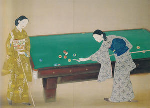 橋本明治《撞球》1931年 東京美術学校卒業制作