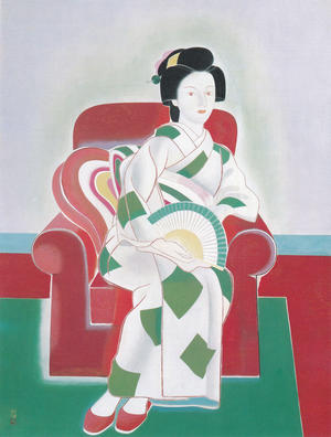 橋本明治《赤い椅子》1951年