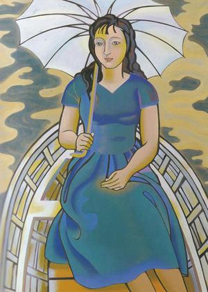 橋本明治《燦湖》1957年
