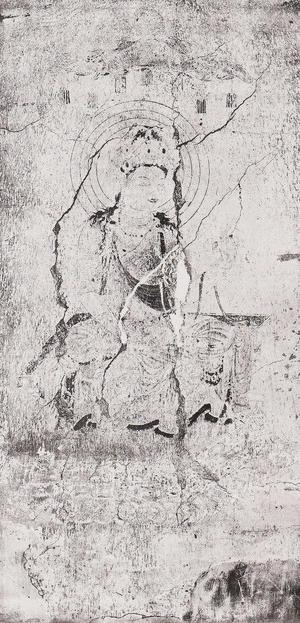 第8号壁 文殊菩薩像 コロタイプ印刷
