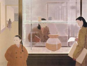 野島青茲《博物館》1949年 静岡県立美術館蔵