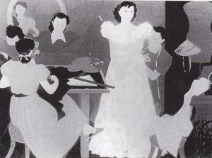 野島青茲《假縫》1951年
