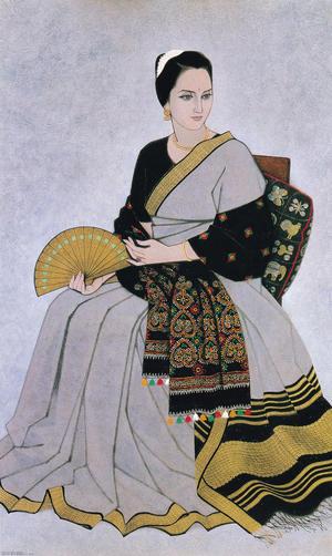 野島青茲《麗衣》1962年 山種美術館蔵
