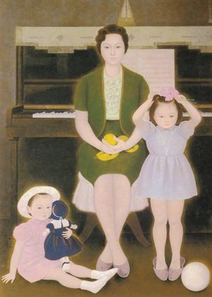 野島青茲《母子像》1965年 静岡県立美術館蔵