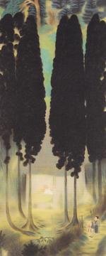 安田靫彦《五合庵の春》1920年