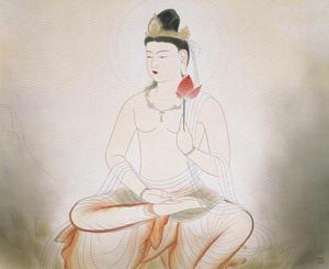 安田靫彦《観自在菩薩》1938年