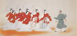 安田靫彦《孫子勒姫兵》1938年