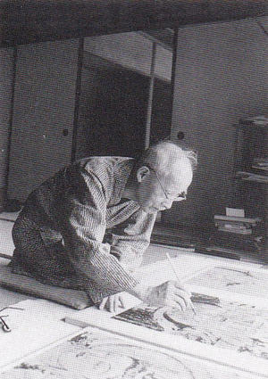 安田靫彦 法隆寺金堂壁画再現模写(6号壁)1967年