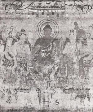 法隆寺金堂壁画 第10号壁 薬師浄土図 コロタイプ印刷(便利堂)
