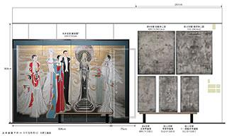 丸井金猊「写と想像⇄創造展」展 北側壁面