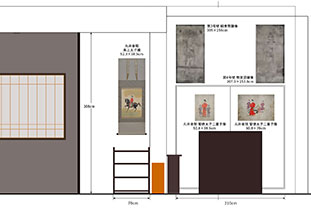 丸井金猊「写と想像⇄創造展」展 南側壁面