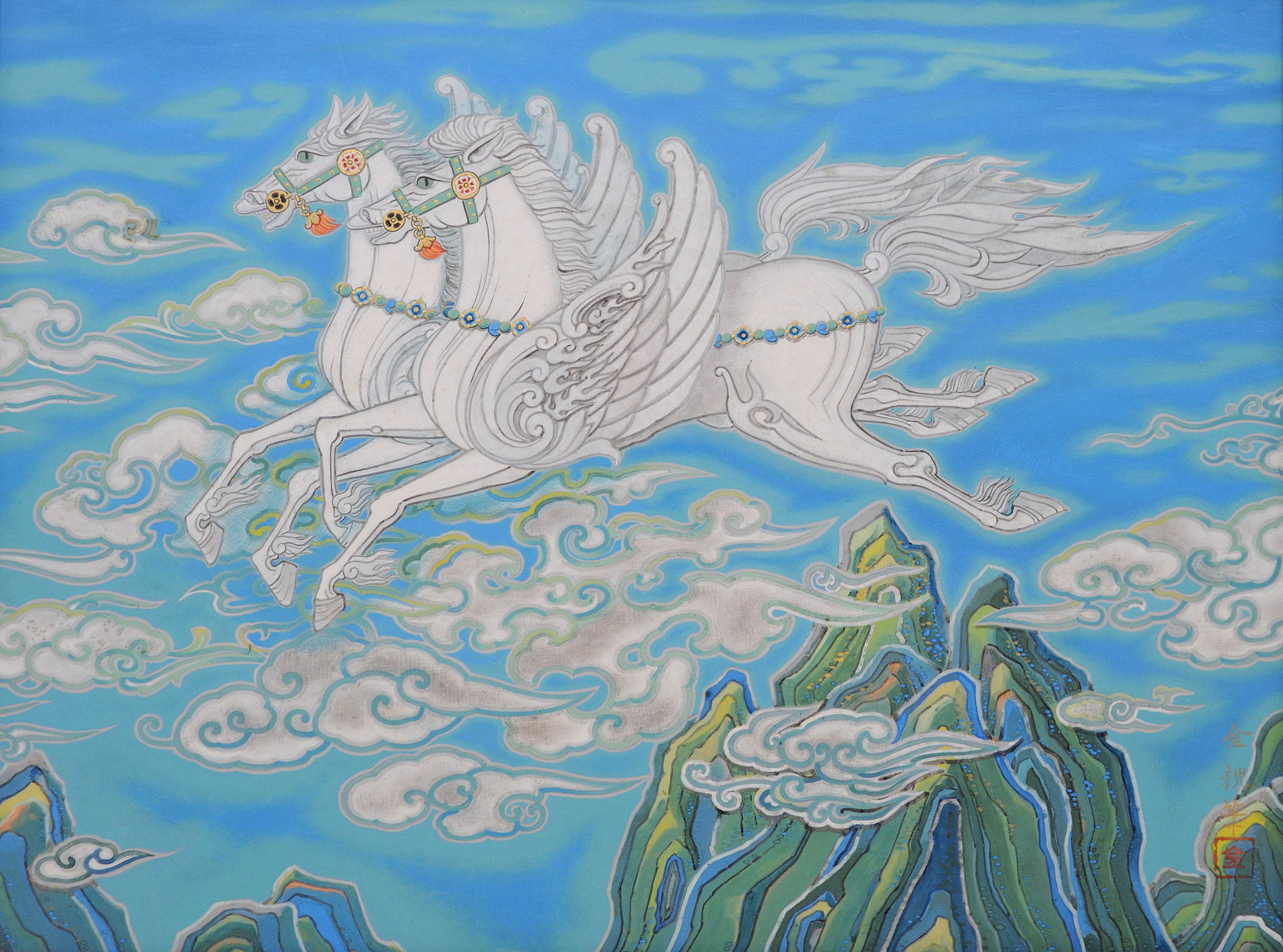 天馬図 - Pegasus